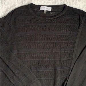 Sweater with overlapping front layers